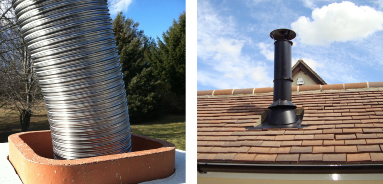 Chimney Sweep Glasgow, Liner Photos